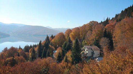 Mavrovi Anovi, Republic of North Macedonia: Ski Hut Gorica in the autumn magic
