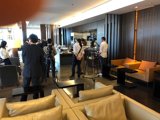 Japan Airlines (JAL): Media gather for introduction of local seasonal sweet in First Class Lounge