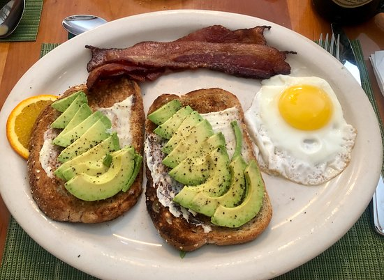 Bear Creek, PA: Egg Sunny Side Up with Bacon and Avocado Toast