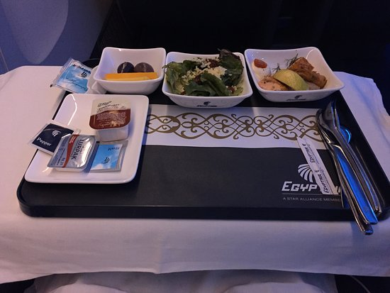 EGYPTAIR: Breakfast plate on Egypt Air MS 985