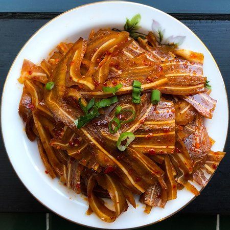 pig ear in chili oil