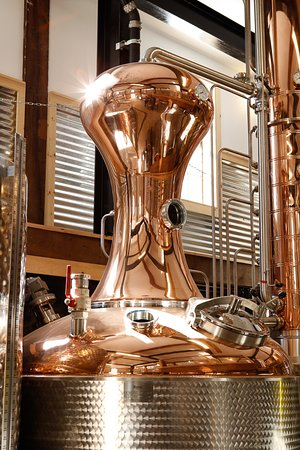 Roxbury, CT: Copper, steel and glass are the materials that make each still a wondrous machine. Spirit production includes vodka, gin and later bourbon which takes longer to sit.