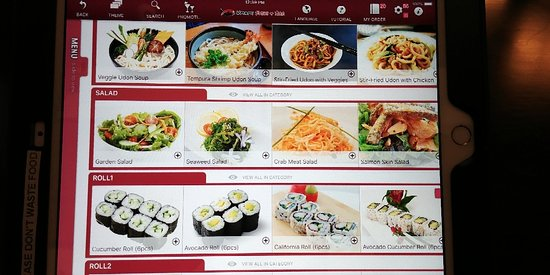 """I'm back to my sushi spot. Such a creature of habit. My daughter loves it. She calls it """"iPad sushi""""."""