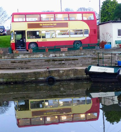 The Boatyard Bus Cafe: On reflection the bus is a great place for a coffee and a slice of cake