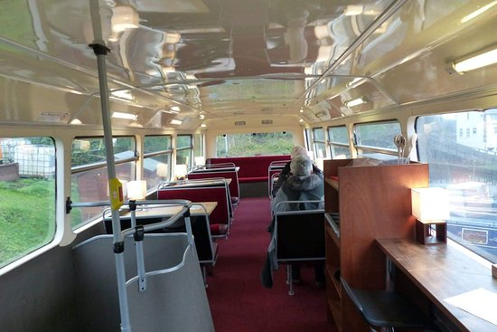 The Boatyard Bus Cafe: Plenty of seating in a bus!!