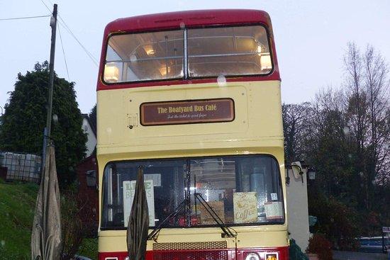 The Boatyard Bus Cafe: The bus exterior