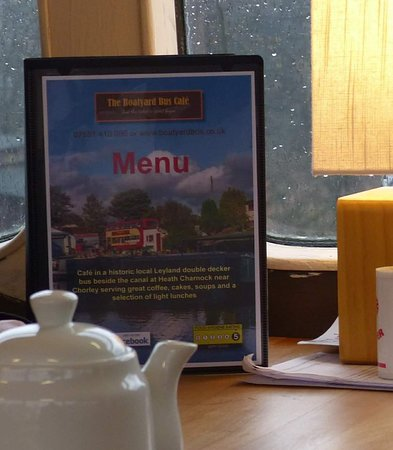 The Boatyard Bus Cafe: Our new table menus