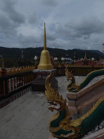 Chaithararam Temple (Wat Chalong): Begehbares Dach von Wat Chalong