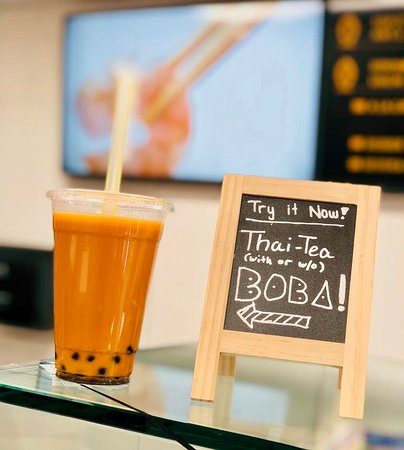 Thai tea with or without Boba, your choice.