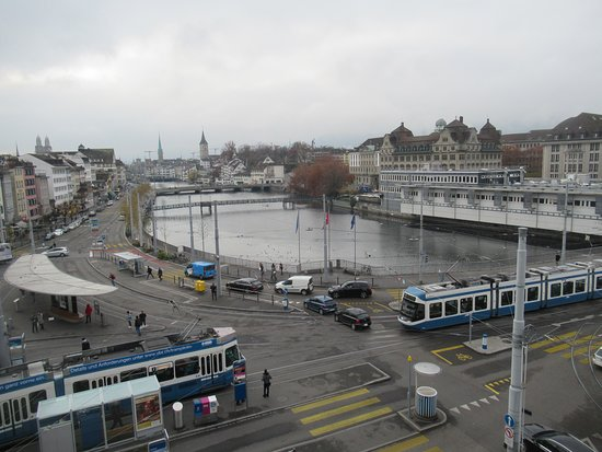 River and local tram stop