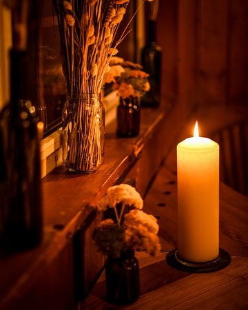 Everything looks better in candle light.
