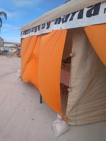 Awning closed for our clients, for those who are uncomfortable to be outdoors :)