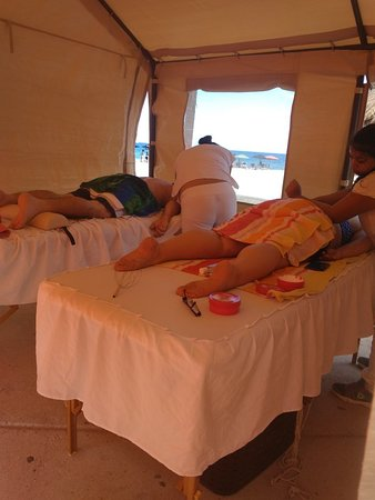 Massage By Maria: Awning closed for our clients, for those who are uncomfortable to be outdoors :)
