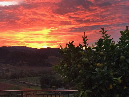 sunset over Dry Creek Valley