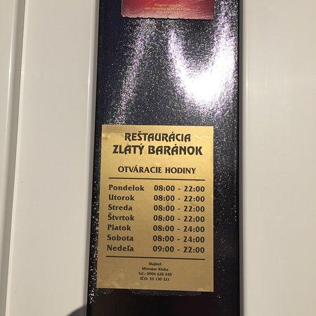 Restauracia Zlaty Baranok