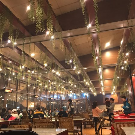 The restaurant is nicely designed on the edge road of mountain resort Bloudan. It looks amazing from outside. However....Average food with slow service but beautiful setting.
