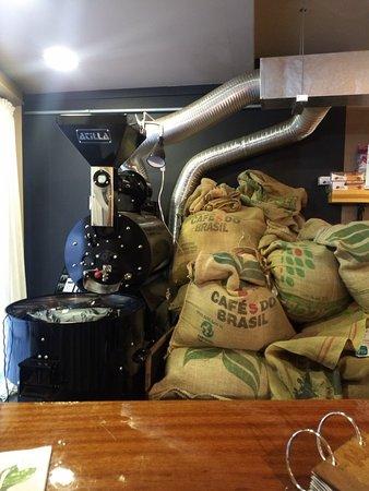 Café torrado na hora