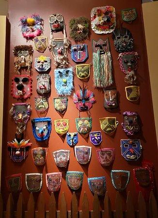 Cajun Mardi Gras masks.