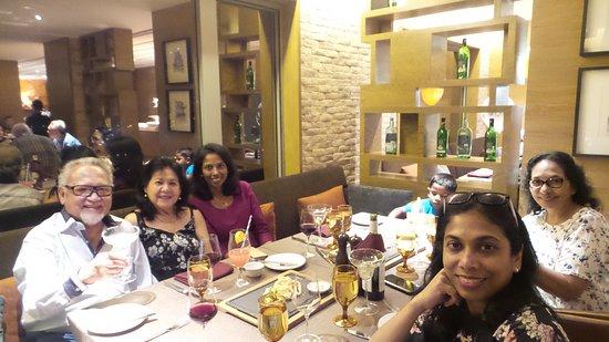 Having dinner with our Malayan friends in Tosca