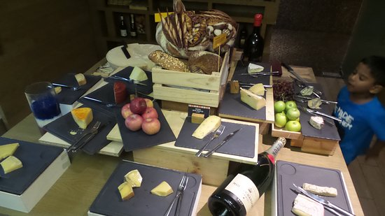 Amazing a choice of cheese after dinner