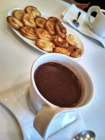 Hot chocolate and french hearts