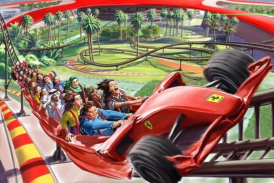 Toegang tot Ferrari World met vervoer ...