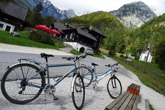 Tour de ciclismo no campo de Ljubljana