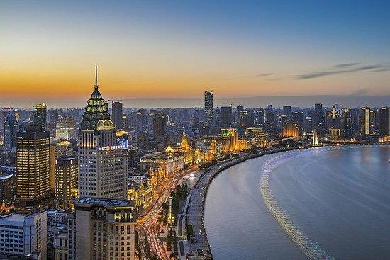 上海晚游包括游船,当地晚宴和杂技表演