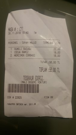 Our receipt proof of purchase
