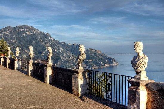 Villa Cimbrone à Ravello et la côte...