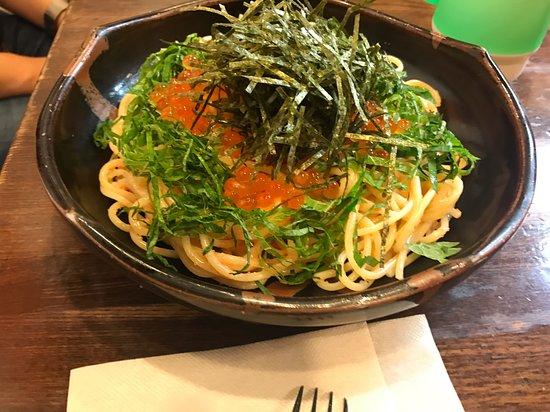 Pasta Wazaya: Ikura tarako pasta.