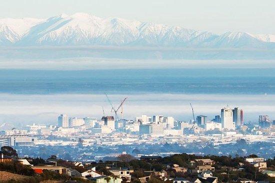 单个火山口和Mt Herbert风景飞行