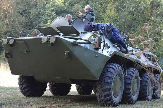 BTR-80 tank driving