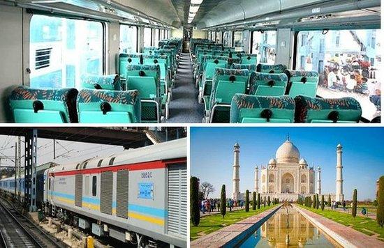 从德里乘坐Gatimaan特快列车前往泰姬陵(阿格拉)一日游