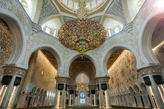 Abu Dhabi Sheikh Zayed Mosque tour...