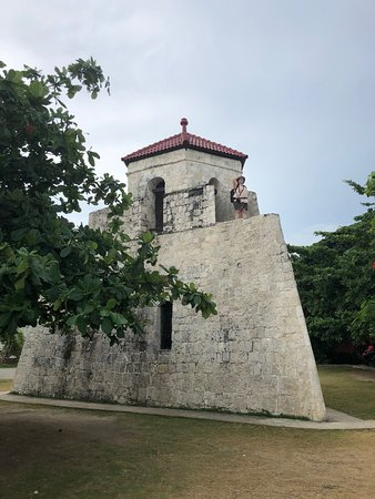 Maribojoc, Philippines: The restored tower where you can climb up and see views.