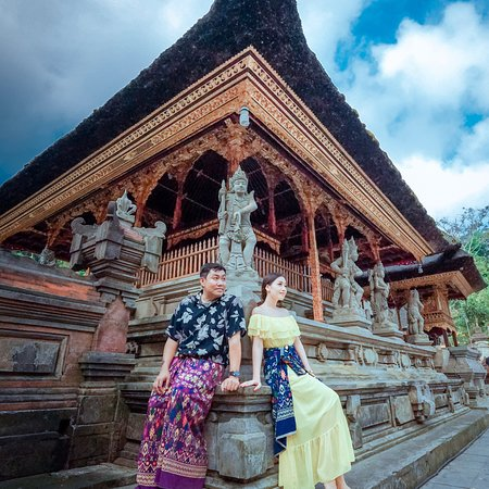 Tirta Empul Temple, a Hindi Balinese water temple, is located near the town of Tampaksiring, Bali, Indonesia. It is well known for its holy spring water. There is always busy with prayers who believe praying in the water placing their head under showering.