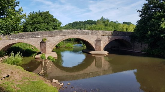 The Bell at Skenfrith: Bridge leading to the Bell.