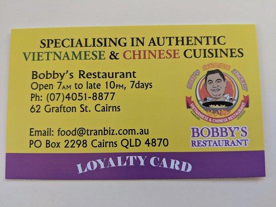 Bobby's B1 Restaurant: 18/11/18