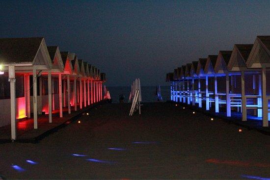 Lido di Ostia, Italie : Spiaggia di sera