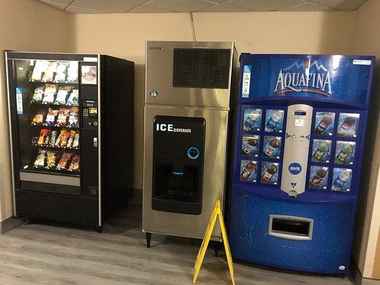 Main floor Ice and Vending Machines