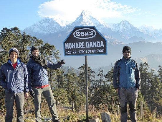 Sunrise time from Maharedada, Nangi trekking in Nepal, Nangi trek with guide, Mahare dada trekking , Mahare dada,  Nagi Narchange trekking in Nepal, Annapurna trekking in Nepal ,  trek with guide Tulasi Ram Paudel