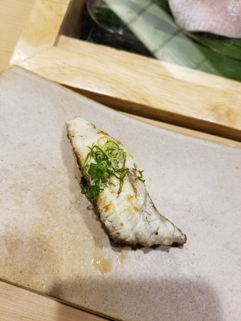 Grilled fish skin