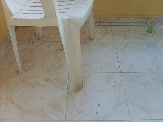 floor not swept disgusting