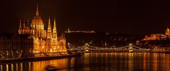 Budapest night view from our ships