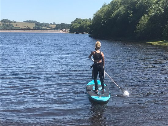 Relaxed paddle-boarding in the sun, 10 minutes from the hostel.