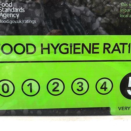 Priory Park Cafe: 5Hygiene score.