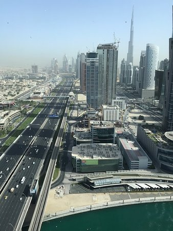 Hilton Dubai Al Habtoor City: View from the business lounge.