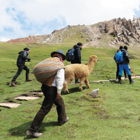 Did you know that during our Alternative Rainbow Mountain Tour you will hike with our favourite alpaca Pepe? The hike itself is an easy 1-hour hike far away from large tourists groups. Get to know the fascinating landscapes of the Andean mountains and visit the three beautiful rainbow mountains!