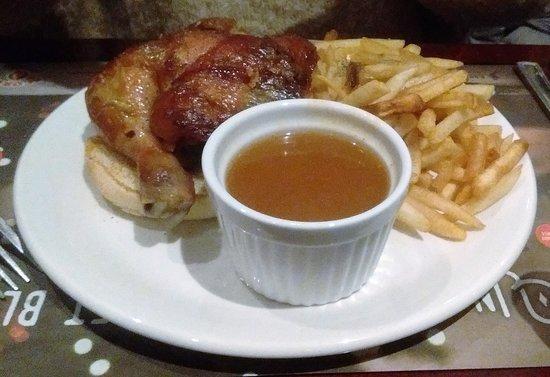 Rôtisserie Scores: Cuisse avec frites $13.25